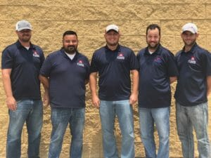 group photo roofers