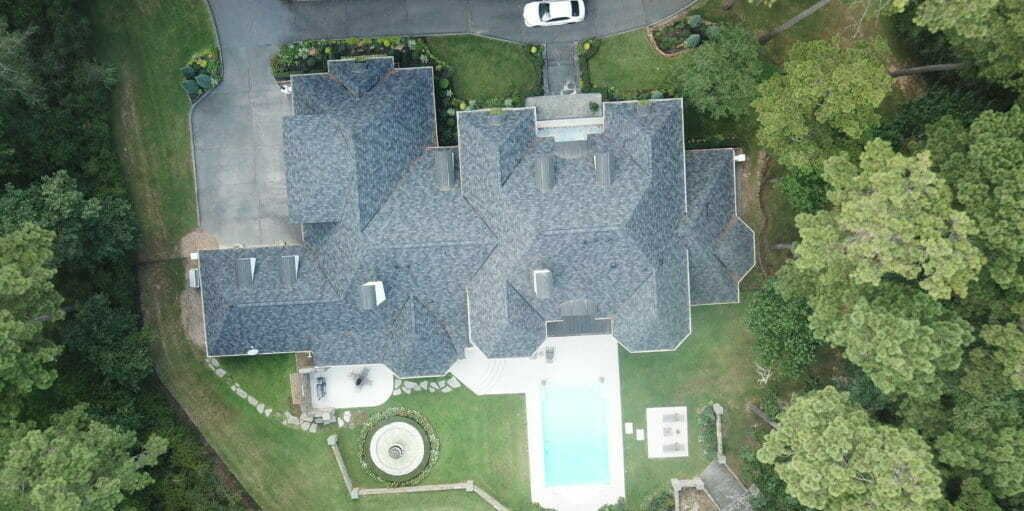 Top Down View of Roof Repair